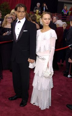 Pin for Later: 30 Iconic Oscars Dresses Worthy of Their Own Award Vanessa Paradis at the 2004 Academy Awards The actress, with then-boyfriend Johnny Depp, wore a vintage Chanel gown on the red carpet.