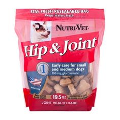 Hip & Joint Level 1 Wafers provide standardized levels of glucosamine in a crunchy wafer to help maintain healthy canine joint function and ... #dog #supplement #jointCare #pet #healthy