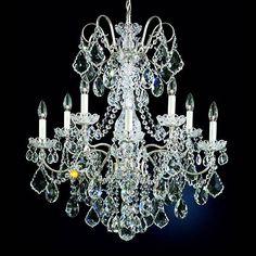 "Schonbek New Orleans 28""W Silver Hand-Cut Crystal Chandelier - #46697 | Lamps Plus"