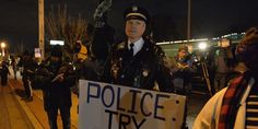 "A former Philadelphia police officer says that he's standing with protesters in Ferguson, Missouri to send a message that police are oppressing the majority of Americans.  ""Number one, I want to give the residents of Ferguson the knowle..."