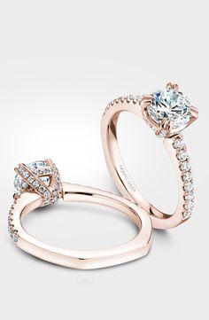 Rose gold engagement ring by designer Noam Carver. Model# B009-01R  http://noamcarver.com/details.asp?SKU=B009-01RM-100A