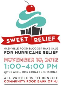 Sweet Relief Food Blogger Bake Sale for Hurricane Sandy