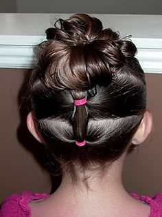 puffy braid updo