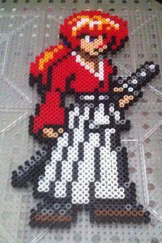 Himura Kenshin - Rurouni Kenshin perler beads by Ace8bit