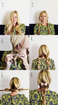 Pigtail braid hair