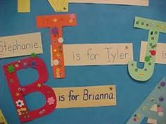 kindergarten first letter of names display - Google Search