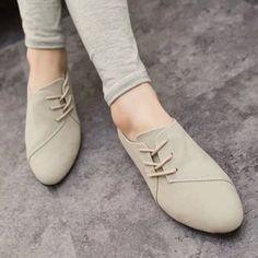 Zapatos grises de primavera casual para mujer 4i1UG