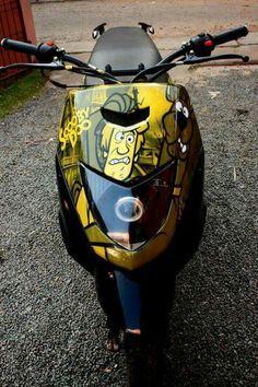 Honda Dio 110 cc motoscoter air brush art