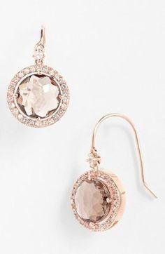 KALAN by Suzanne Kalan Drop Earrings Rose Gold Smokey Quartz Suzanne Kalan