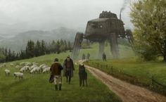 ArtStation - 1920 - like a wolf among sheep, Jakub Rozalski