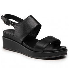 Sandały THE FLEXX - Belle 1 DS20/Z643 Black - Sandały codzienne - Sandały - Klapki i sandały - Damskie | Kolekcja 2021 | eobuwie.pl Fashion Boots, Shoes, Products, Templates, Flower, Natural Leather, Grey Hair, Get Skinny, Silhouettes