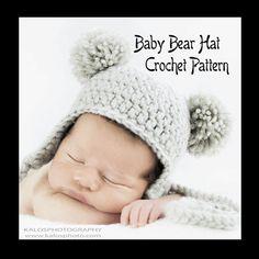 Baby Bear Hat  PDF PATTERN  Crochet  Size by capturedimagination, $5.00