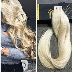 "Ugeat 22"" 20pcs 50g Weight Tape on Hair Extensions Bleach..."