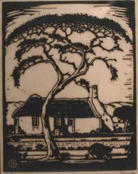 Pierneef. Farm house South African Artists, Lino Cuts, Lino Prints, Cloud 9, Typography Prints, Vintage Stuff, Wood Blocks, Lovers Art, Farm House