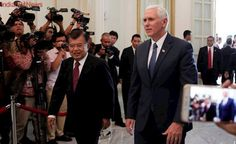 Mike Pence discusses barriers to US companies with Indonesian president