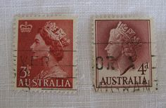 Price of Vintage Postage Stamps | Absolutely love these old Australian ones - especially the first one ...