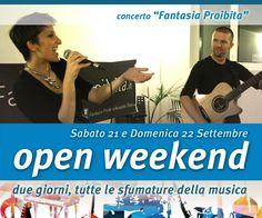 Concerto voce e chitarra Fantasia Proibita Acoustic Duo del 21 settembre 2013 in Ottava Nota - Auditorium, spazio eventi