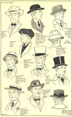 History of Hats - Village Hat Shop Historical Costume, Historical Clothing, Historical Hairstyles, Vintage Outfits, Vintage Fashion, Fashion Goth, 1930s Fashion, Fashion Jewelry, Retro Mode