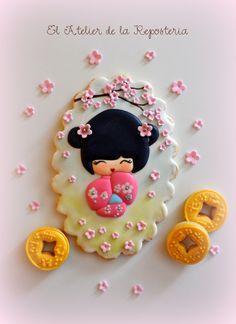 Geisha con Monedas de la Suerte | Cookie Connection