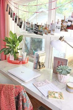 Colorful Bohemian Office and Playroom Design Decoration Hall, Decoration Bedroom, Diy Room Decor, Home Decor, Desk Decorations, Cute Desk Decor, Cute Office Decor, My New Room, My Room
