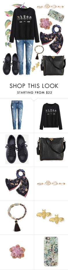"""""""tread softly"""" by rerinm ❤ liked on Polyvore featuring H&M, WithChic, Valentino, Tory Burch, Marc Jacobs, Panacea, Sydney Evan and Casetify"""