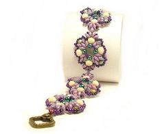 Tutorial Beaded Bracelet Adamantine Pattern by CrownofStones