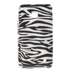 Mesh - Microsoft Lumia 640 Hoesje - Back Case Siliconen Zebra | Shop4Hoesjes