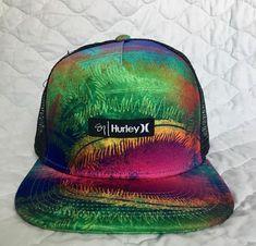 pretty nice 3b392 fa771 Hurley Brand New Trucker Mesh Back Hat Cap Multi-Color, Snap Back,  Adjustable