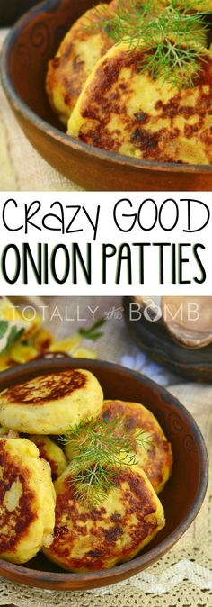 A truly delicious recipe that will blow people's minds! These onion patties are perfect as a side to a meatloaf, on a thick bun with a hamburger, some fresh lettuce, and a sliced juicy red tomato on dinners. Try them today, they're seriously good! Side Dish Recipes, Vegetable Recipes, Vegetarian Recipes, Cooking Recipes, Healthy Recipes, Chef Recipes, Simple Delicious Recipes, State Fair Food, Vegetable Side Dishes