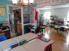 Darling homeschool room!