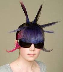 Wacky hairstyle