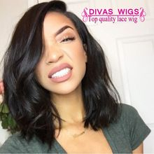 Hot Selling Natural Wave Bob Wigs Synthetic Lace Front Wigs Top Quality Black Heat Resistant Malaysia Hair Wigs/Fast Shipping(China (Mainland))