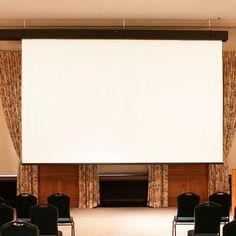 "Draper Rolleramic Matte White Electric Projection Screen Size/Format: 220"" diagonal / 16:9"