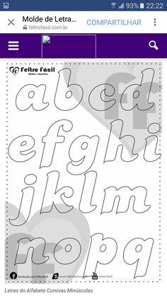 Alphabet Letter Templates, Alphabet And Numbers, Easy Sewing Patterns, Felt Patterns, Colouring Pages, Printable Coloring Pages, Styrofoam Art, Silhouette Clip Art, String Art