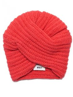 Turban winter hat. Wear with big sunglasses and lots of 'tude.