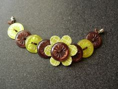 Button jewlery ~ so cute and soooo many possibilities ~ another great idea for teens and tweens too!
