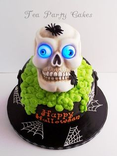 Glow in the Dark Skull Cake