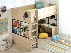 "Obtain excellent tips on ""bunk bed ideas for small rooms"". Bunk Beds Small Room, Kids Bunk Beds, Small Rooms, Loft Bedroom Decor, Tiffany Blue Bedroom, Bunker Bed, Loft Bed Plans, Small Room Design, Loft Spaces"