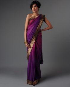 ombre sari