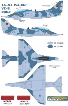 TA-4J VC-8 Adversary Color Profile and Paint Guide
