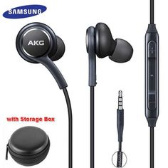 AKG Earphones In-ear with Microphone Wire Headset for hauwei xiaomi Samsung Galaxy headphone smartphone Samsung Earphones, Galaxy S8, Samsung Galaxy, Akg, Noise Cancelling, Headset, Consumer Electronics, In Ear Headphones, Smartphones