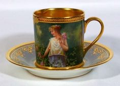 Royal Vienna Style Mark :Red Beehive  Year : Late 1800's or Early 1900's