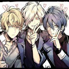 Diabolik Lovers (More Blood)- Shu, Subaru, and Reiji #Anime #Game #Otome