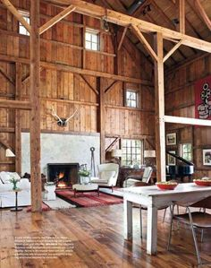 WHAT?!?!?!?! Converted barn to a home. YES PLEASE!!