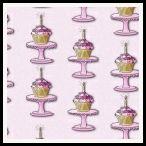 member's free birthday cupcake backing paper pink