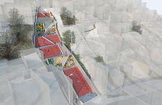 Escadaria-Parque Infantil Social Housing Architecture, Architecture Site Plan, Architecture Mapping, Architecture Collage, Architecture Graphics, Urban Architecture, Paving Design, Urban Design Diagram, Urban Analysis
