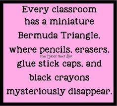 Classroom Bermuda Triangle yep!