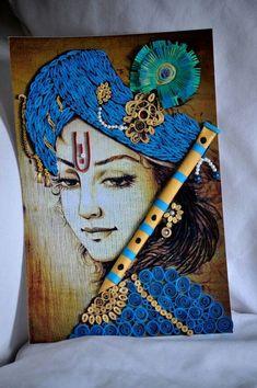 Super Ideas For Funny Art Drawings Hands Ganesha Drawing, Ganesha Painting, Tanjore Painting, Quilling Work, Paper Quilling, Krishna Art, Lord Krishna, Shree Krishna, Radhe Krishna