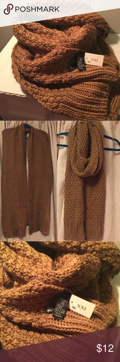 LONG chunky knit scarf NWT long chunky knit scarf. Beautiful, cozy, perfect for fall! Accessories Scarves & Wraps
