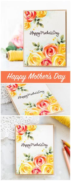 Watecoloured Mother's Day card by Debby Hughes using the new Mothers Fathers Flowers release from Simon Says Stamp. Find out more by clicking on the following link: http://limedoodledesign.com/2017/04/mothers-fathers-flowers-sss-release-hop/